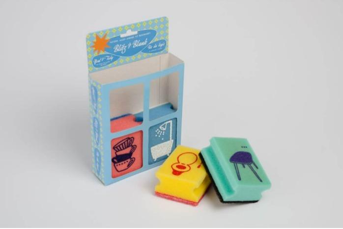 Cleaning products - Scourers made of PUR foam, with print