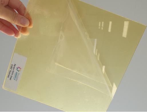 Arolux PEKK: láminas de cetonas amorfas termoformables - placas conformable para aplicaciones aeronáuticas (conductos, cajas...)