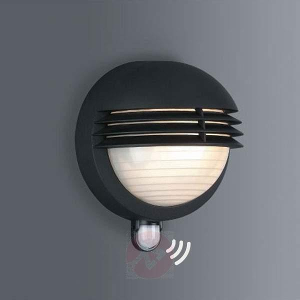 IR outdoor wall lamp BOSTON black - Wall Lights with Motion Sensor