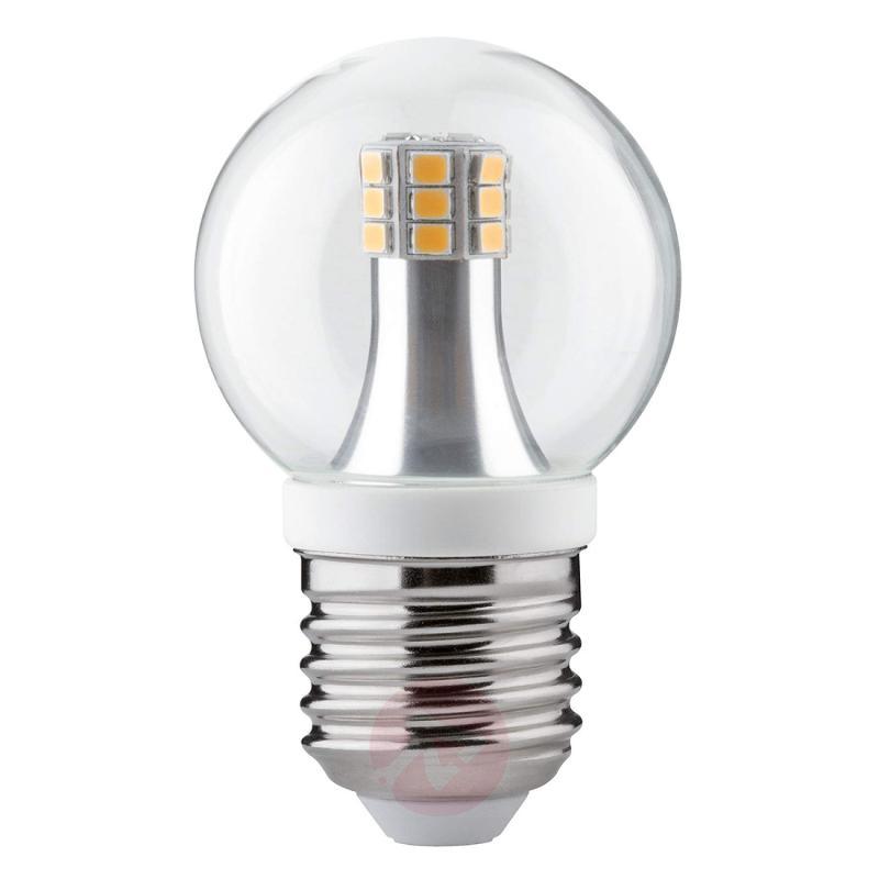 E27 4W 827 LED golf ball bulb, clear - light-bulbs