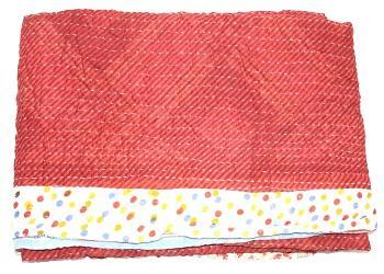 Indian Cotton Kantha Bedding Handmade Blanket Reversible Qui