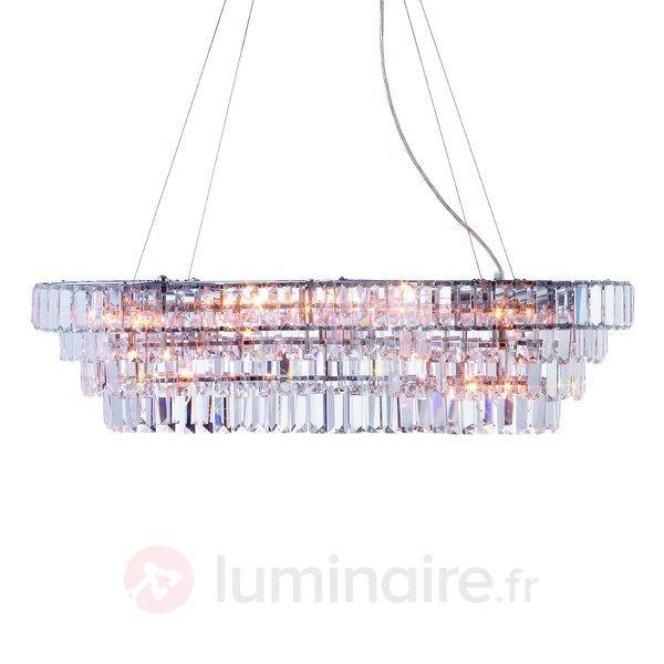 Belle suspension Rockelstad avec cristaux Asfour - Suspensions en cristal