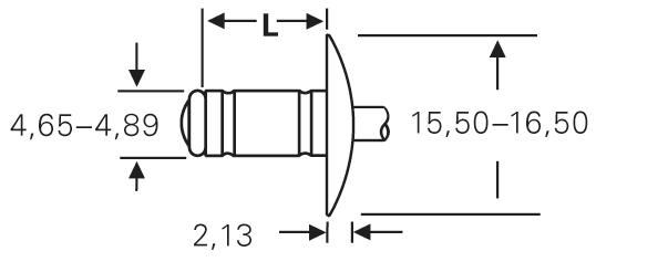 """Blind rivet technology - POP® - """"MGR"""" - Multigrip rivets - Large flange"""