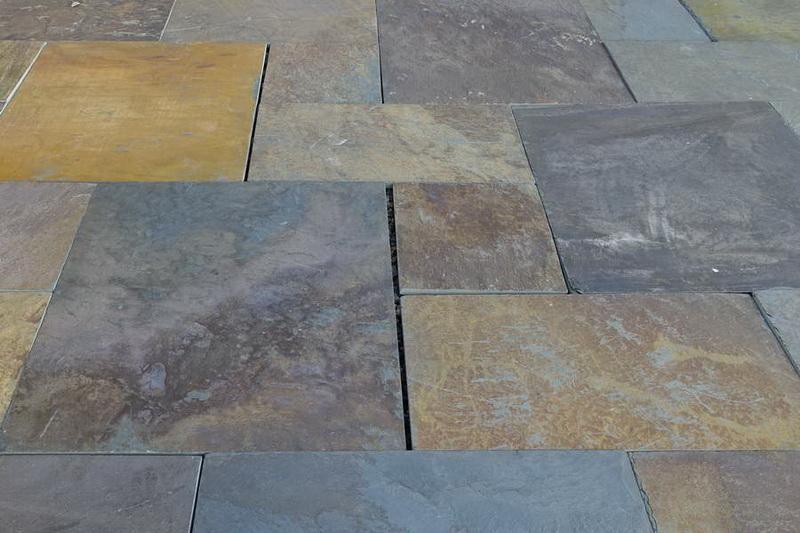 Copper Slate Paving Tils - patio paving stones