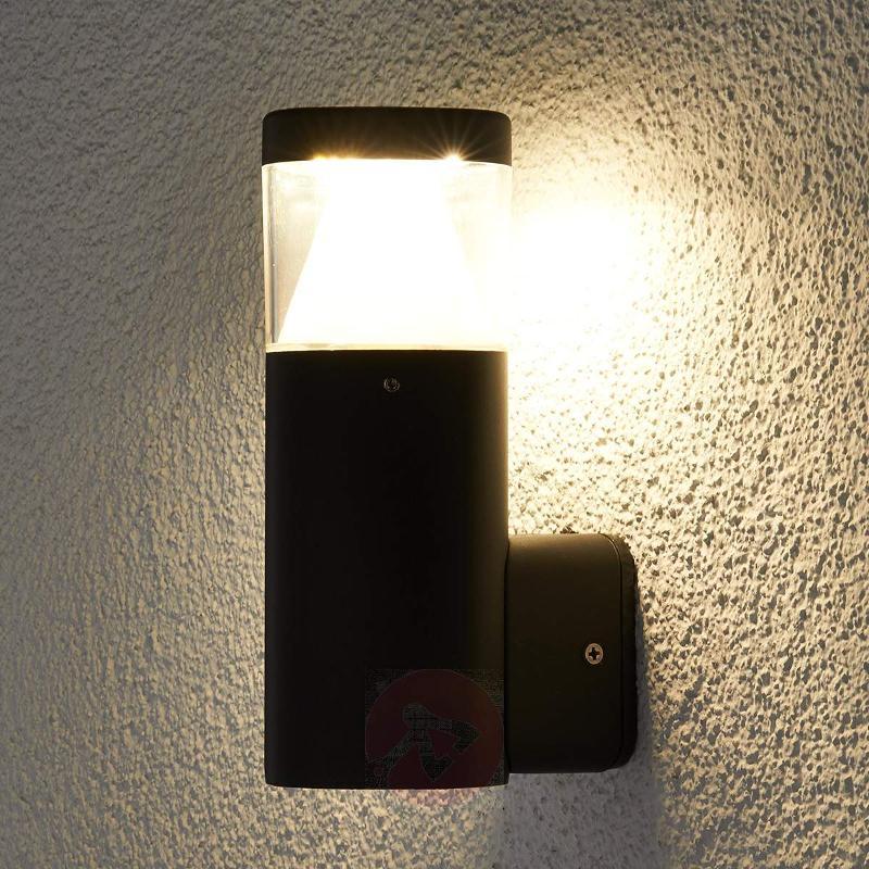 Milou Dark Grey LED Exterior Wall Lamp - Outdoor Wall Lights