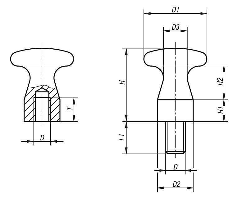 Flexibles Normteilesystem - Knöpfe flach
