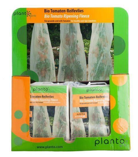 """Bio Tomaten Reifevlies """"planto pro"""" - Verkaufsfertig im Display-Karton, Schlauchware, 29 Stk."""