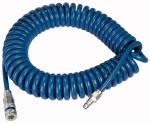 Spiral hose coupling set, PUR, Hose 12x8, Length 8.0 m - Spiral hose and coupling kit, with quick disconnect couplings DN 7.6