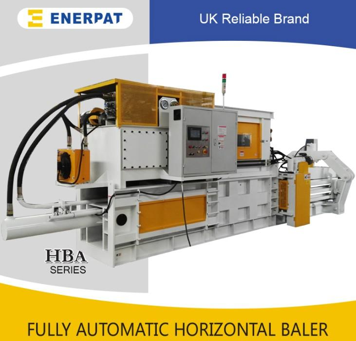 ENERPAT Horizontal scrap carton baling press machine with CE