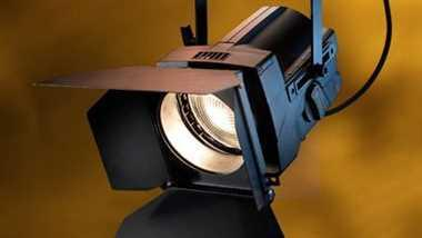 Halogen spotlights - ETC Source Four Fresnel, silvergrey