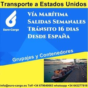 Transporte marítimo a Estados Unidos - Desde España y otros países de la Unión Europea