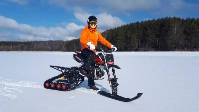Moottoripyörän Pitbike-moottoripyöräsarja - Sarja Pitbike-moottoripyörän muuttamiseksi moottoripyöriksi