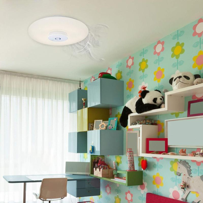 Modena - LED ceiling light with smoke alarm - indoor-lighting