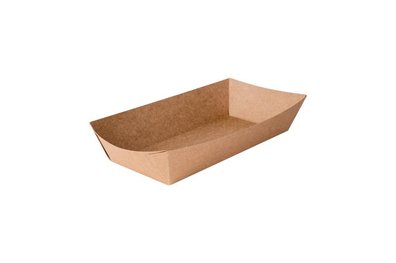 Fast Food Trays «Pure Kraft» - Kraft trays for fast food, deep brown colour
