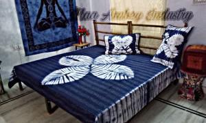 Tie dye handmade kantha quilts - Kantha bedcover