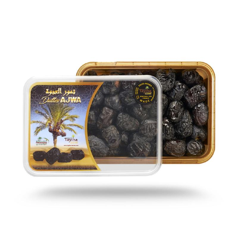 Ajwa  Madinah 500 G - Calibre moyen boîte hermétique imprimée