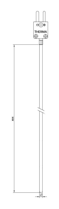 Sheated   without conductor   Type N   - Sheathed thermocouple