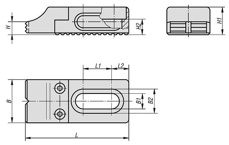 Mini butée réglable - Éléments de bridage et d'ajustement