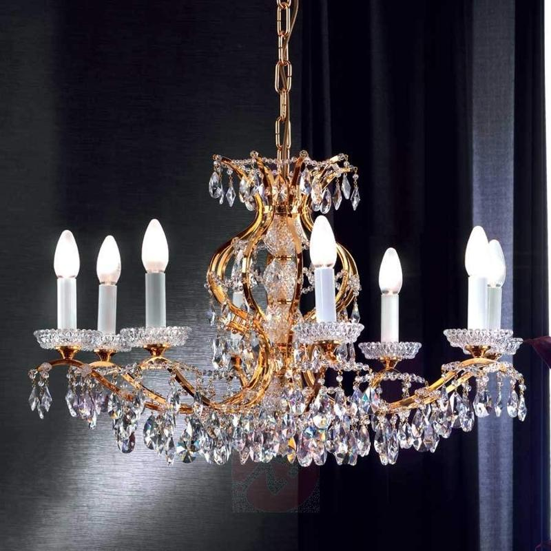 Hiroa crystal chandelier 24 carat gold plated chandeliers lights hiroa crystal chandelier 24 carat gold plated chandeliers mozeypictures Image collections