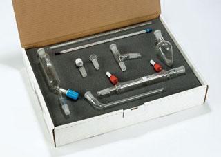 Kit de microchimie organique de 9 pieces  - avec rodage 14/23 QUICKFIT ( Accessoire )