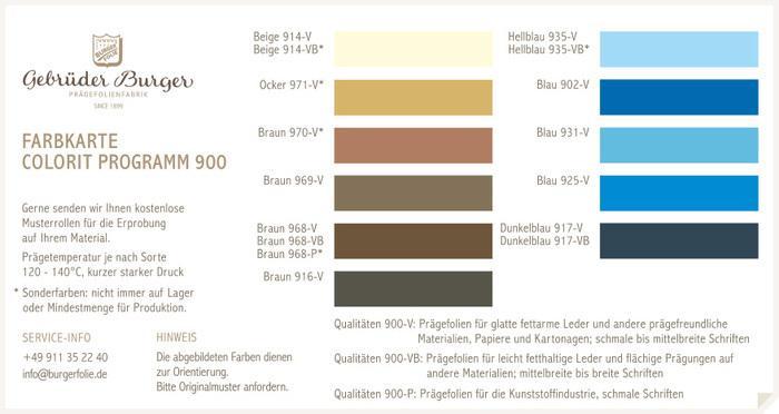 Colorit Programm 900/2 -