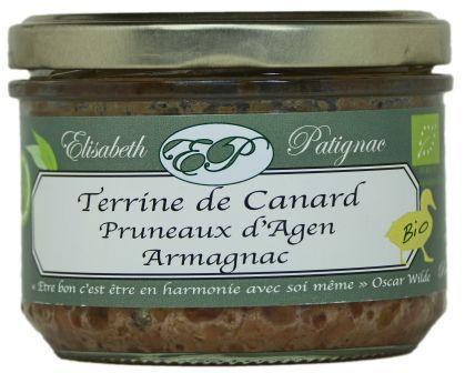 Terrine de Canard Bio aux pruneaux d'Agen et à l'Armagnac - Epicerie salée