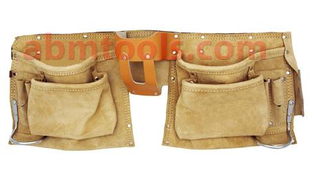 11 Pocket Leather Tool Apron - Double stitched pocket & rivet reinforced.