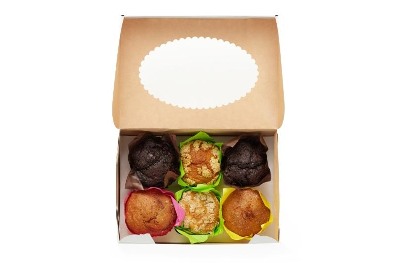 Muffins - Kraft box for muffins