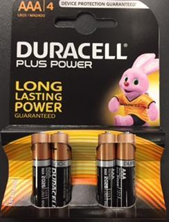 PILE DURACELL - LR03 PLUS POWER