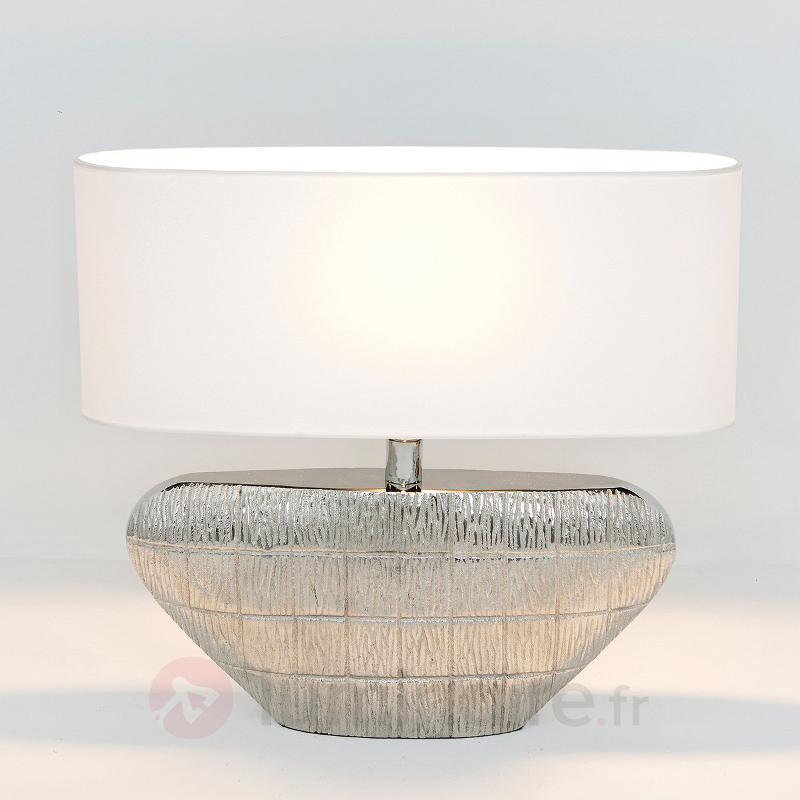 Lampe à poser Cleopatra avec abat-jour textile - Lampes à poser en tissu