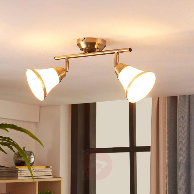 Marita - wall and ceiling lamp in antique brass - indoor-lighting
