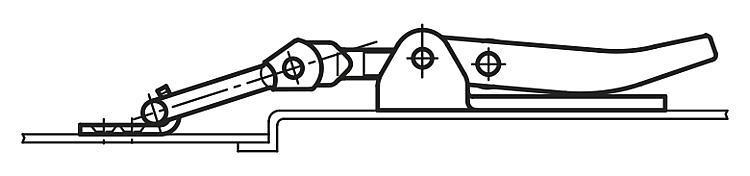 Flexibles Normteilesystem - Spannverschlüsse einstellbar mit beweglichem Spannhaken