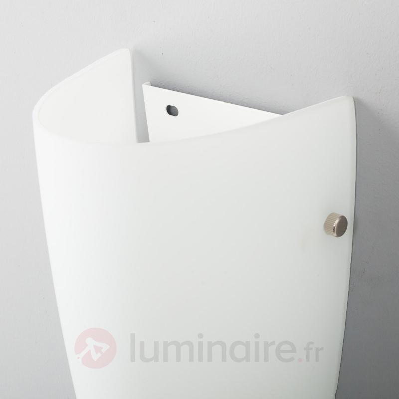 Applique en verre Hermine en blanc - Appliques en verre