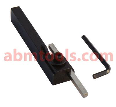 Turning Tool Bit Holder - Adjustable - Positive rake for use with high speed steel tool bits.
