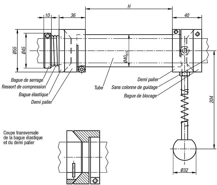Système pivotant - Eléments pour montage de contrôle
