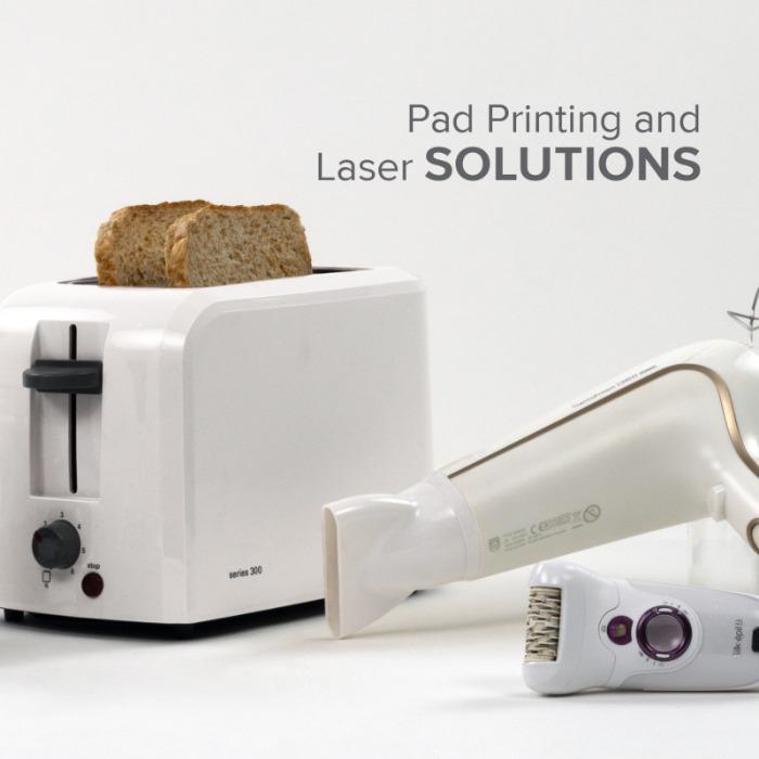 Aplicaciones industria de los electrodomésticos - Aplicaciones para la industria de los electrodomésticos con tampografía / láser