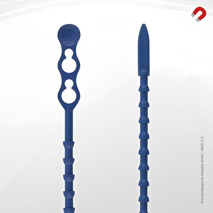 Metal detectable cable ties Allplastik-Blitzbinder® - ABVD 212 (blue)