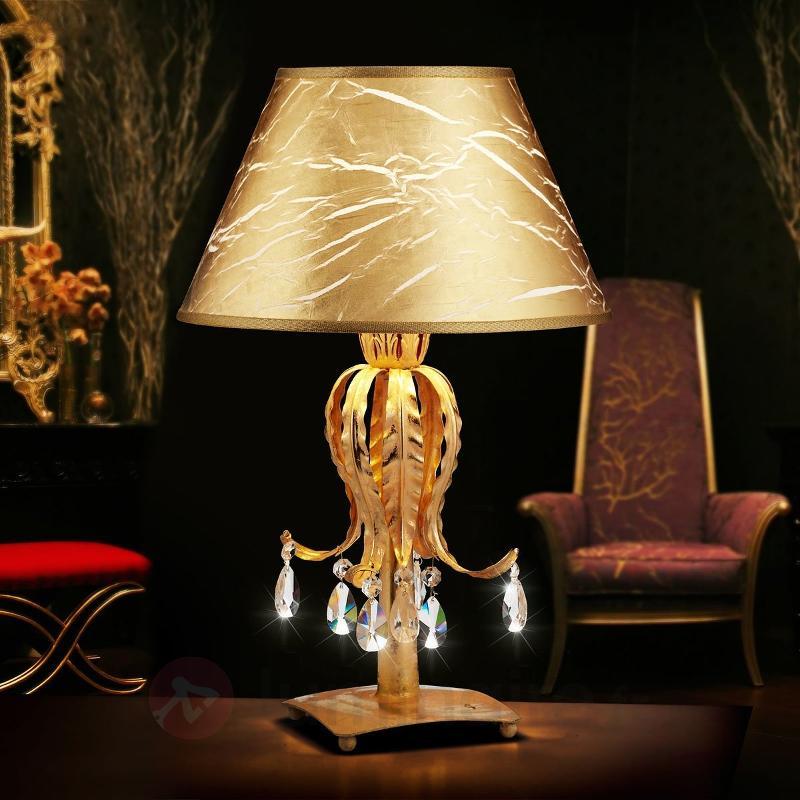 Lampe à poser Fabiana de style raffiné - Lampes à poser classiques, antiques