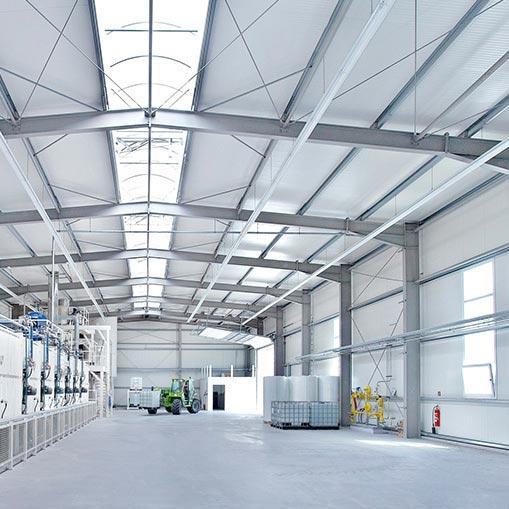 Couverture bac acier pour l'Industrie ou Stockage - Concept industrialisé à toiture acier ou bois