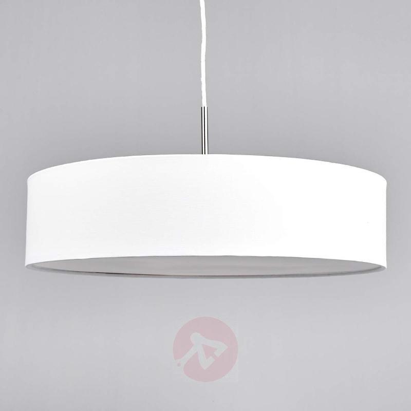 White Sebatin LED fabric pendant lamp - Pendant Lighting