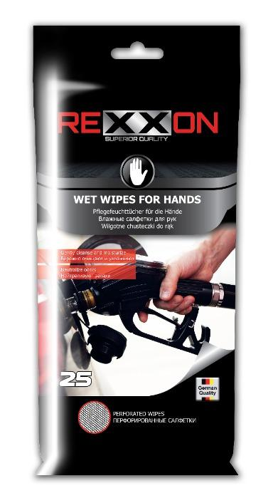REXXON WET WIPES FOR CLEANING HANDS 25pcs -