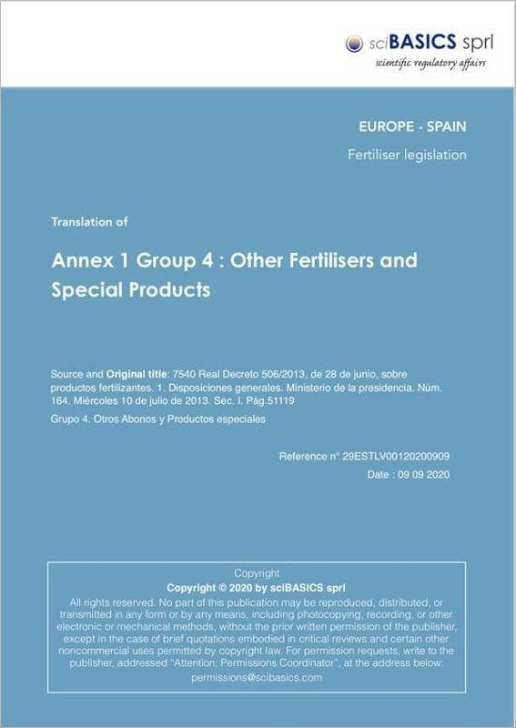 Annex 1 Group 4 : Other Fertilisers And Special Products - null