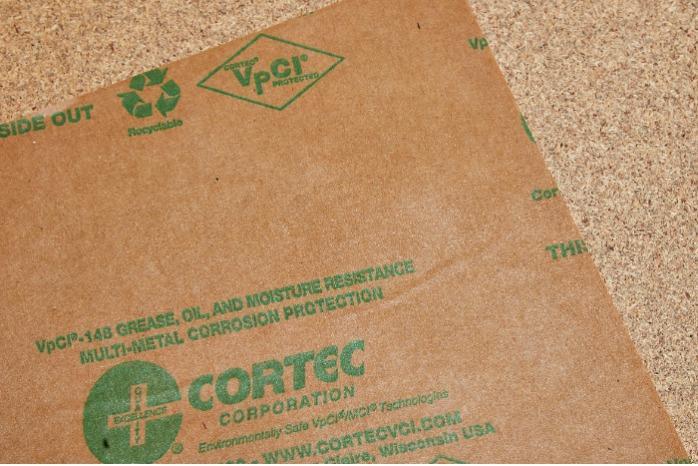 VpCI 148   Papel resistente al aceite - Papel inhibidor de corrosión resistente a la grasa   Varios tamaños