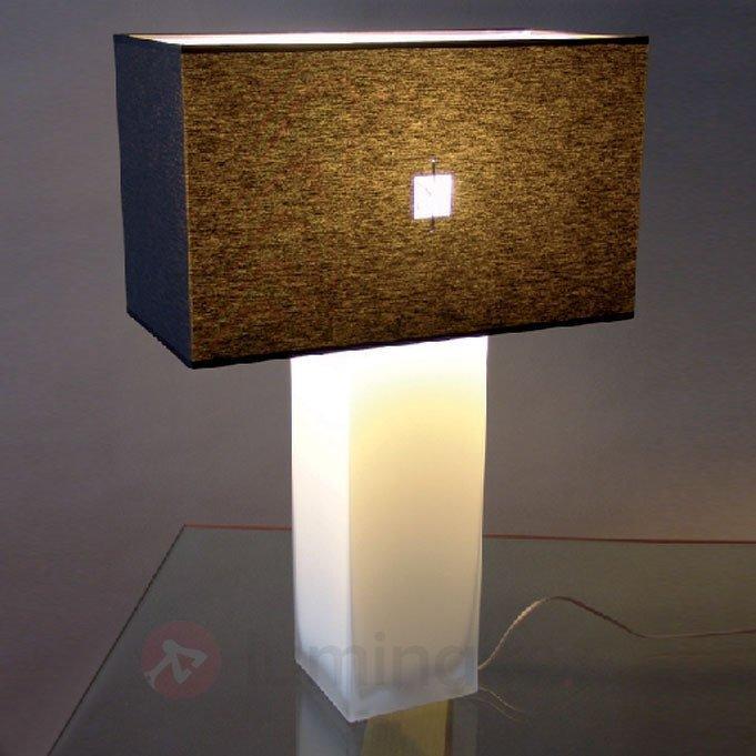 Lampe à poser CATRIN avec pied cristal opale - Lampes à poser en tissu