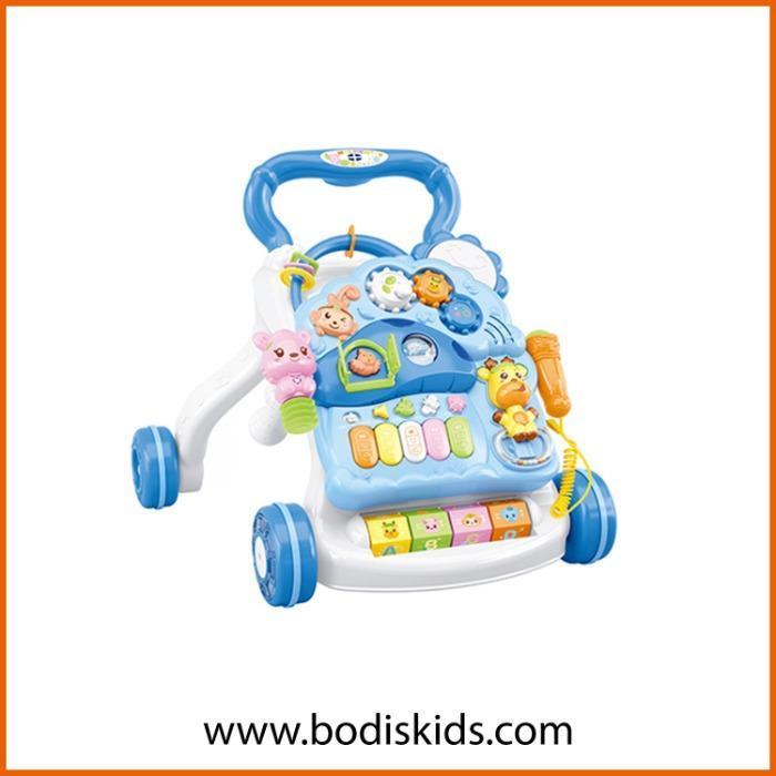 Music light  drum walker for toddler -  Education intelligence plastic musical baby walker