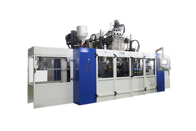 Food and Beverage Blow Molding Machine Cases - Monolayer B20D-900 Sauce Bottle Blow Moulding Machine(Two stations Four...