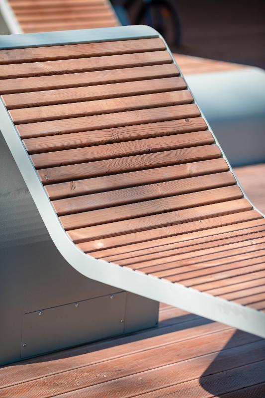 "Bench ""Fly""(Sun lounger) - Benches and sun loungers"