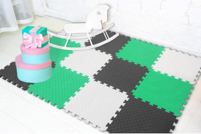 "Soft floor-puzzle ""Rainbow""  - (50*50*1 cm)"