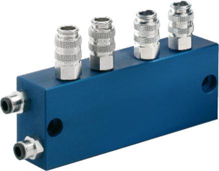 Flexibles microjet® Baukastensystem - 2-fach Zwischenverteiler