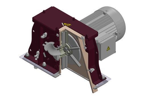 Turbina de alto rendimiento 3.6 - Turbina de alto rendimiento con un diám. de granallado de 330 y 380 mm